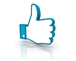 social media management services facebook like thumbs up icon