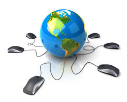 affordable web design services globe with computer mouse